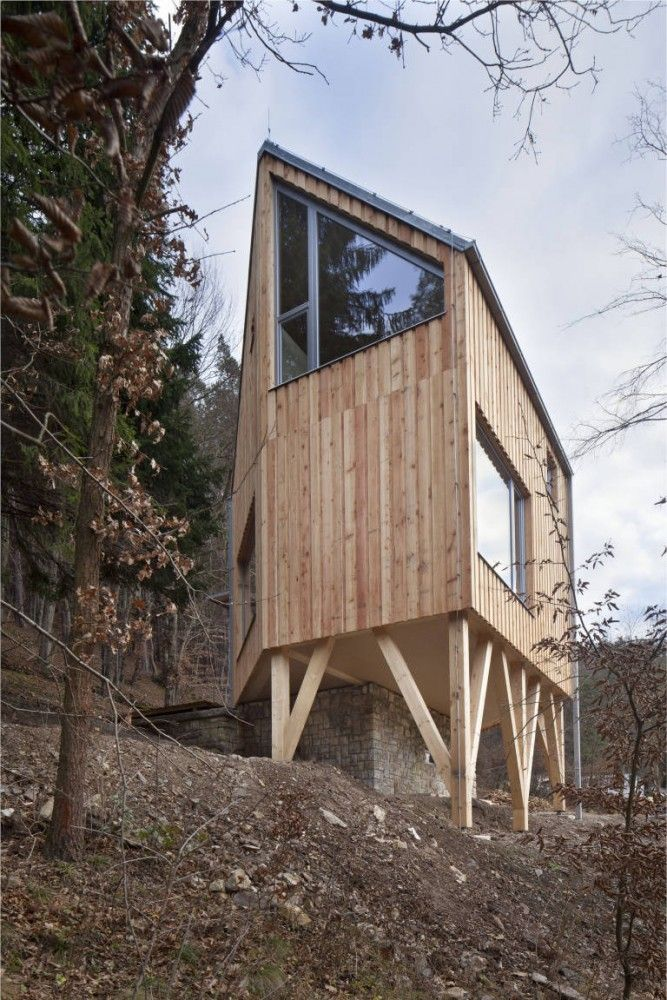 Family House, Zbecno, Czech Republic, by A.LT Architekti.: Wooden Houses, Families Houses, Wooden Architecture, Hexagons Shap Wooden, Tiny Houses, Alt Architekti, A Lt Architekti, Small Houses, Toma Rasl