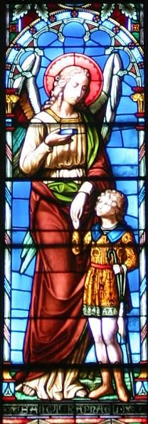St. Raphael the Archangel & St. Tobias ~ stained glass