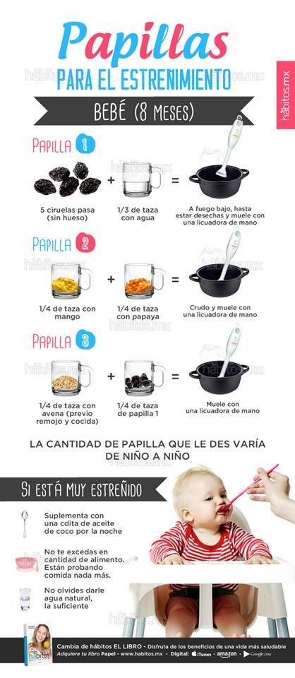 Hábitos Health Coaching | PAPILLAS PARA EL ESTREÑIMIENTO (bebé de 8 meses)