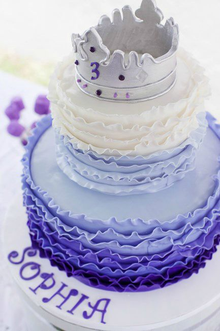 Celebrate your little one's birthday by treating her like the princess she is. This purple princess birthday cake, kid-friendly party décor, and purple toddler birthday party idea could be just what you're looking for.