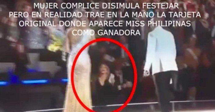Sigue la controversia alrededor de la reciente elección de Miss Universo 2015. Ahora un video demuestra que pudo haber sido fraude el fatal error del concurso