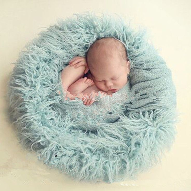 Newborn Baby Soft Photography Photo Prop Infant Backdrop Background Blanket Rug #NIBOX