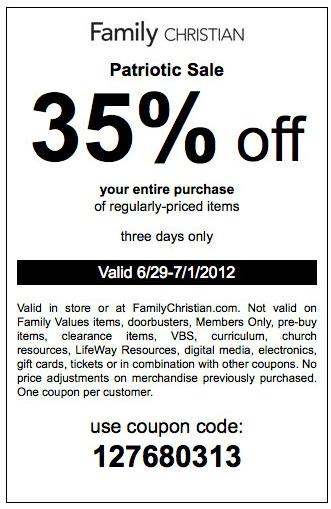Christian book coupon code april 2018