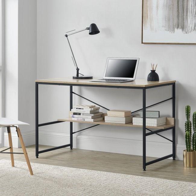 Bureau Style Industriel A C Taga Re Cielterre Commerce En 2020 Bureau Style Industriel Table D Ordinateur Bureau