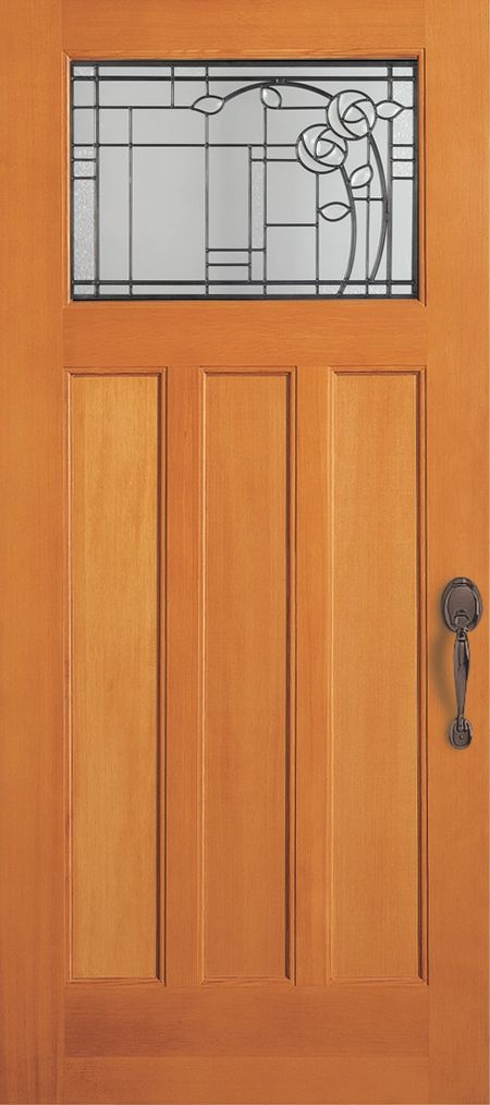 Craftsman style door for Mission style entry doors