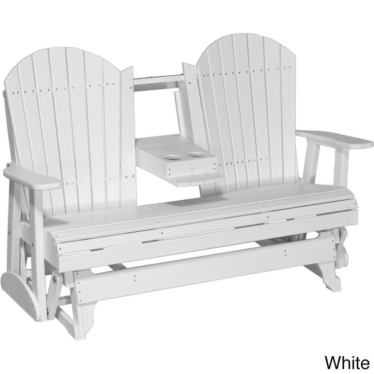 Poly Outdoor 5 Foot Adirondack Porch Glider Bench , Patio Furniture