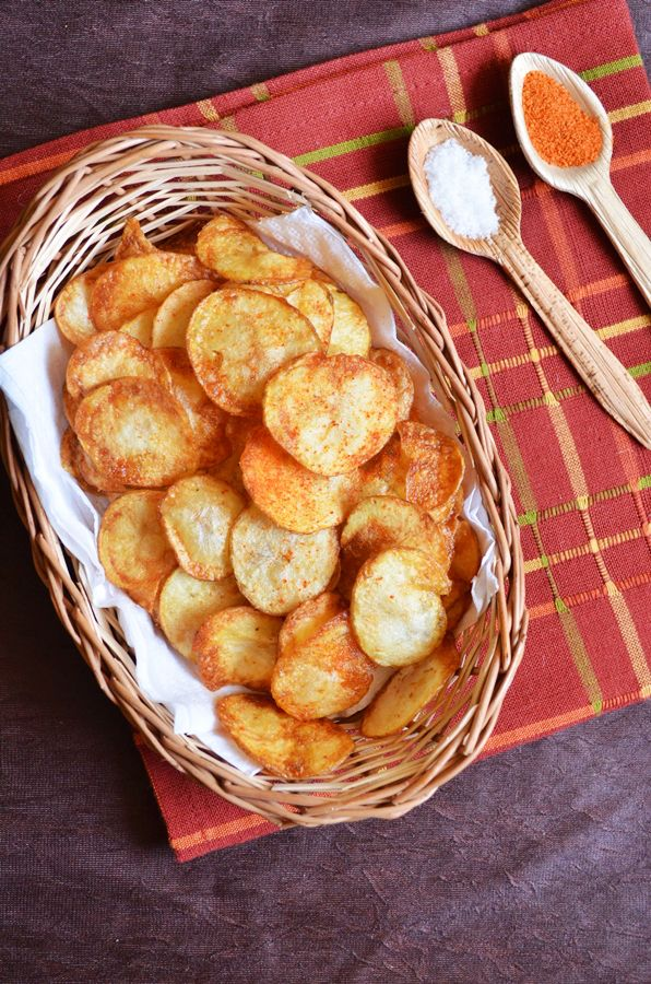 Easy potato chips Quick and easy to make potato chips for