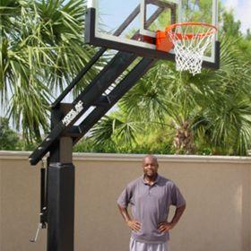 Jordan's dream....Pro Dunk Diamond basketball system.  The ultimate at-home backyard basketball goal system!