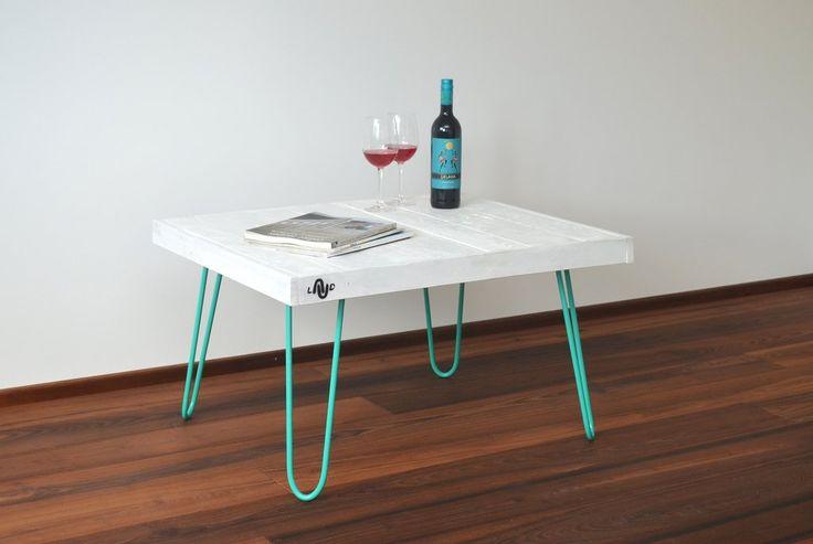 LAUD - Coffee table white / turquoise #coffee #table #coffeetable #kahvipöytä #interior #interiordesign #design #home #design #homedesign #koti #inredning #inredningsdesign #handmade #woodwork #sisustus #sisusta #sisustaminen #sisustusidea #olohuone #livingroom