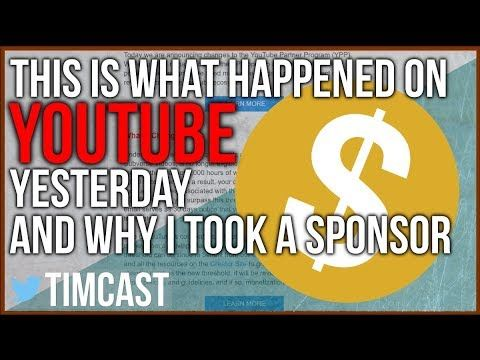 THIS IS WHAT HAPPENED ON YOUTUBE YESTERDAY (explaining sponsorship)