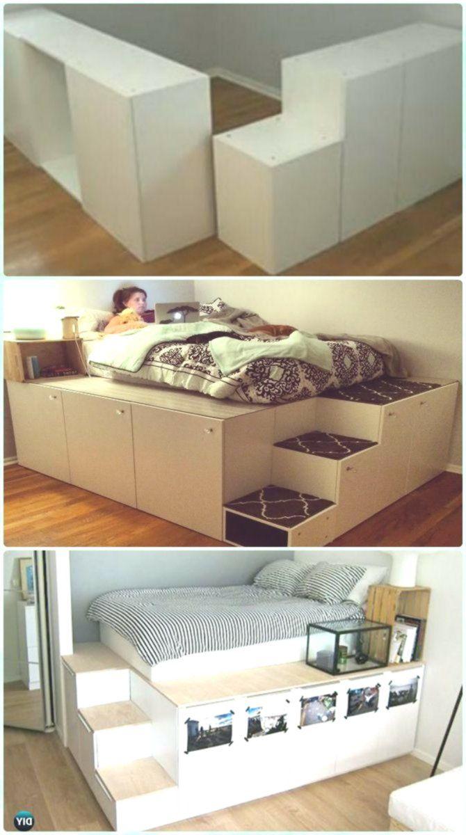 Diy Space Saving Bed Frame Design Free Plans Instructions Bed