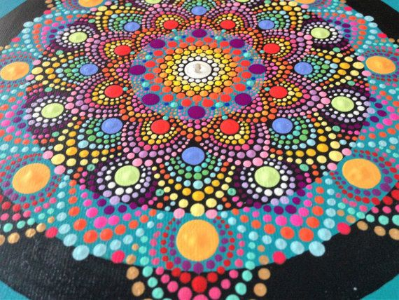Positive Vibes one of a kind mandala by RobynRohl on Etsy