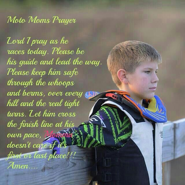 Motocross Prayer - Love it! If I have a boy that races I will always say this prayer.