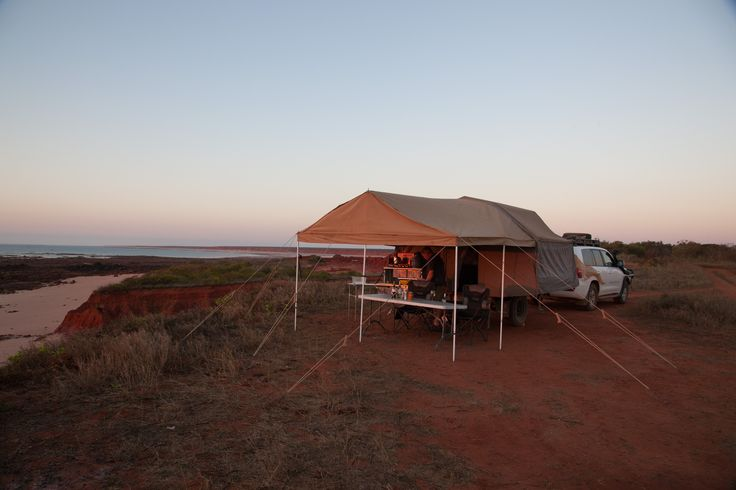 James Price Point, Western Australia. The perfect spot to set up your Crikey Camper and enjoy the sunset. #crikeycamper #CampingMadeEasy