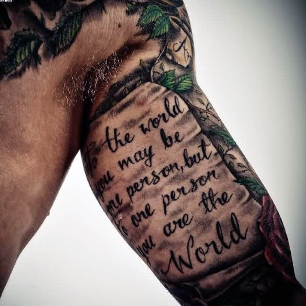 60 Scroll Tattoos For Men