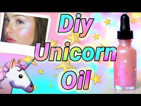 "DIY ""UNICORN OIL"" illuminating glow elixir - YouTube video"