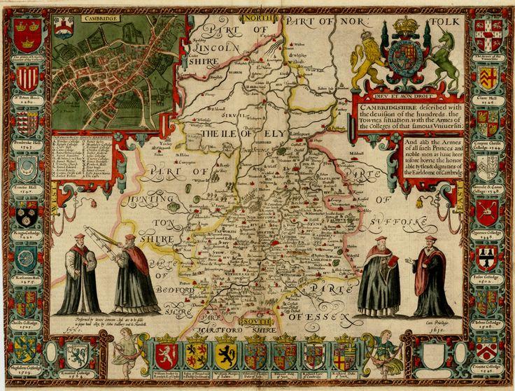 The ILE of ELY. John Speed, 1611, Cambridgeshire