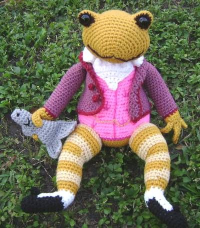Amigurumi Peter Rabbit : Jeremy Fisher Frog TARA. BEATRIX POTTER. Amigurumi ...