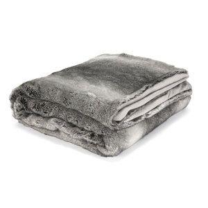 Dartmoor Grey Faux Fur Throw in Large
