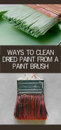 Ways to Clean Dried Paint From a Paint Brush: It is best to clean your brushes before the paint dries, of course, but if your brushes have dried paint on them, you can still salvage them and put them to good use again.