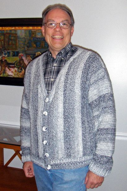 Crochet Patterns For Men s Sweaters : Mens Collage Cardigan Crochet Inspiration Pinterest