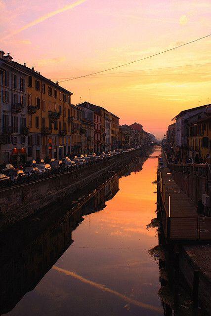 Naviglio Grande, Milano, province of Milan, Lombardy region Italy