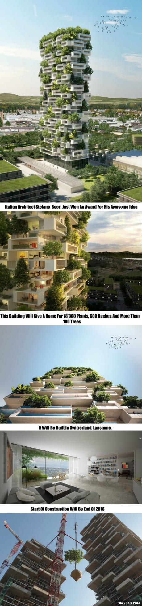 Italian Architect Created The Idea. Building Process Starts Next Year. Would You Live There?