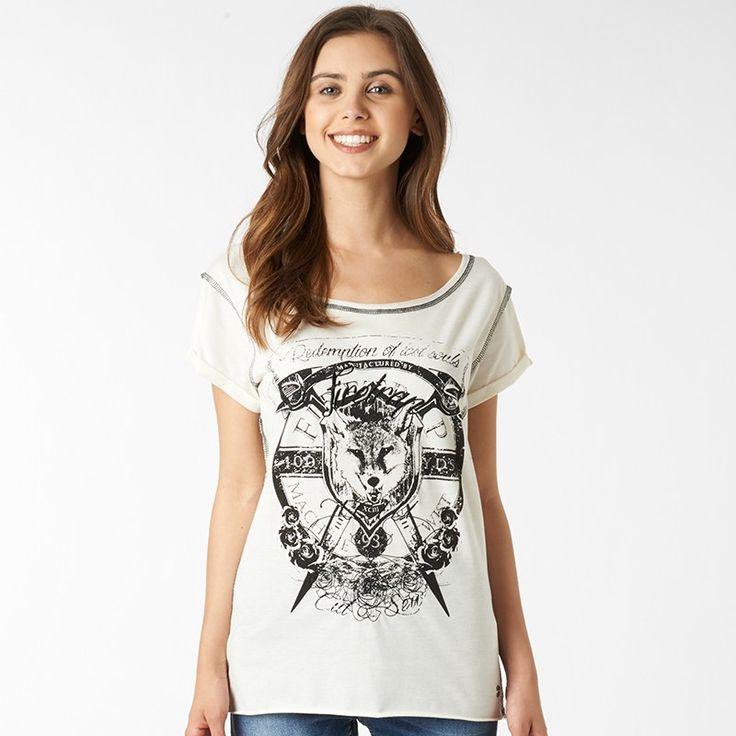 Firetrap Womens Lost Souls T-Shirt Antique Marl