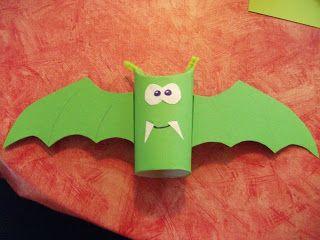 Basteln mit Kindern / Son Ja's verrückten Ideen für Grundschulkids: Fledermaus (Herbst / Halloween)