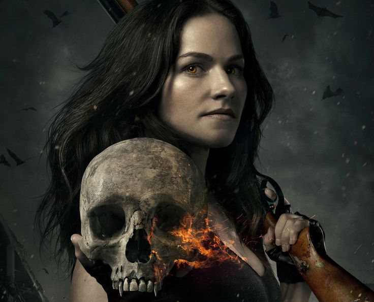 Van Helsing TV show, skull, Vanessa Helsing, Kelly Overton, actress wallpaper