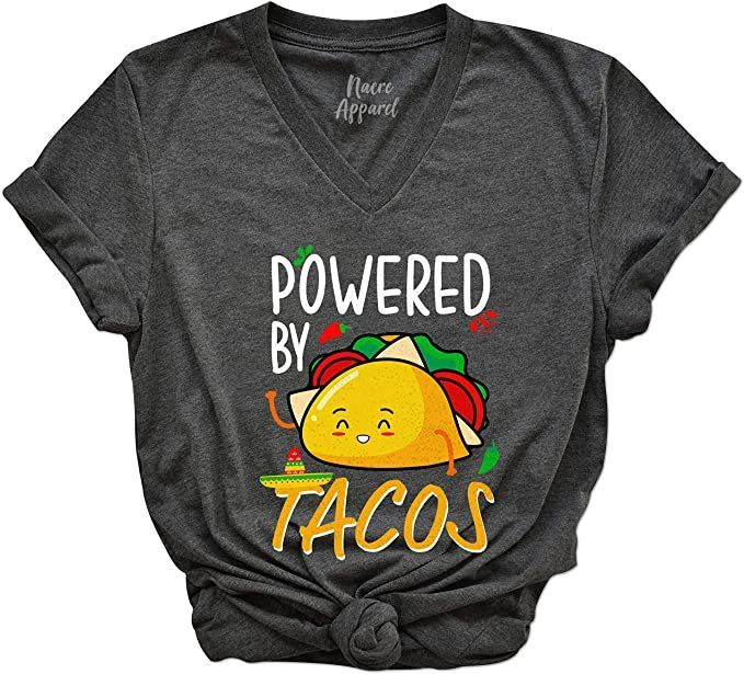 Amazon.com: Powered by Tacos Shirts Funny Mexican Taco Lover Tees Cinco De  Mayo Outfits: Clothing   Taco shirt funny, Taco shirt, Cinco de mayo outfit
