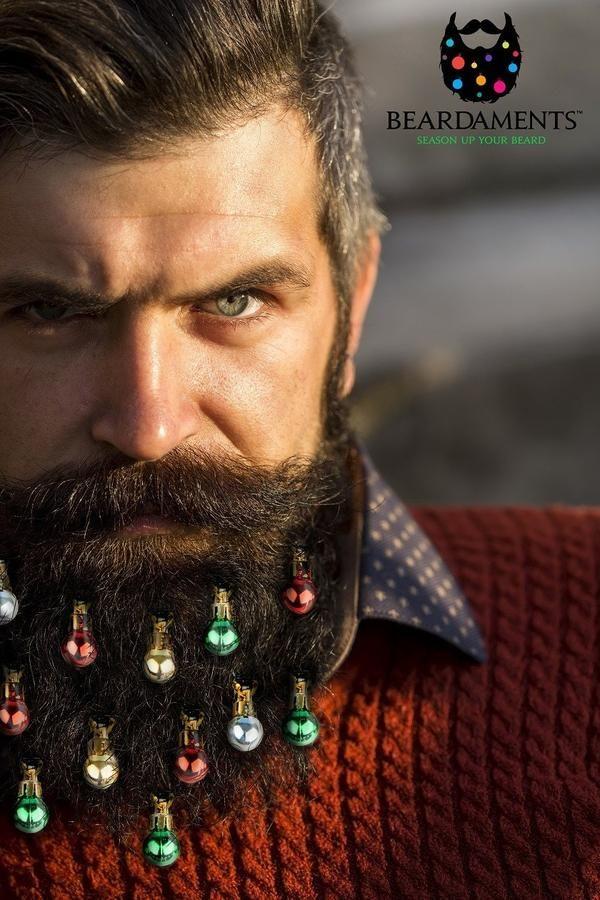 Beard Ornaments!  Season up your beard this Christmas.