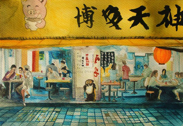 """Japan"" by 0618623.deviantart.com on #DeviantArt #Watercolor"