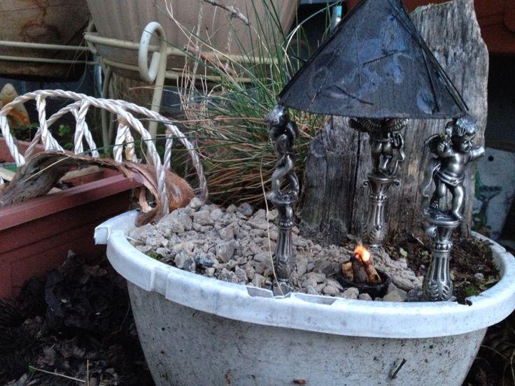 Fairy gazebo campfire.
