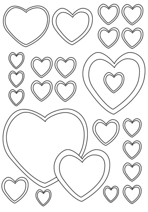 Dibujos de corazones para colorear
