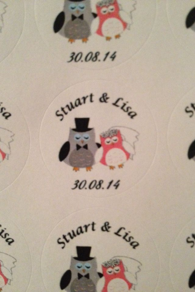 Stickers for invitations x