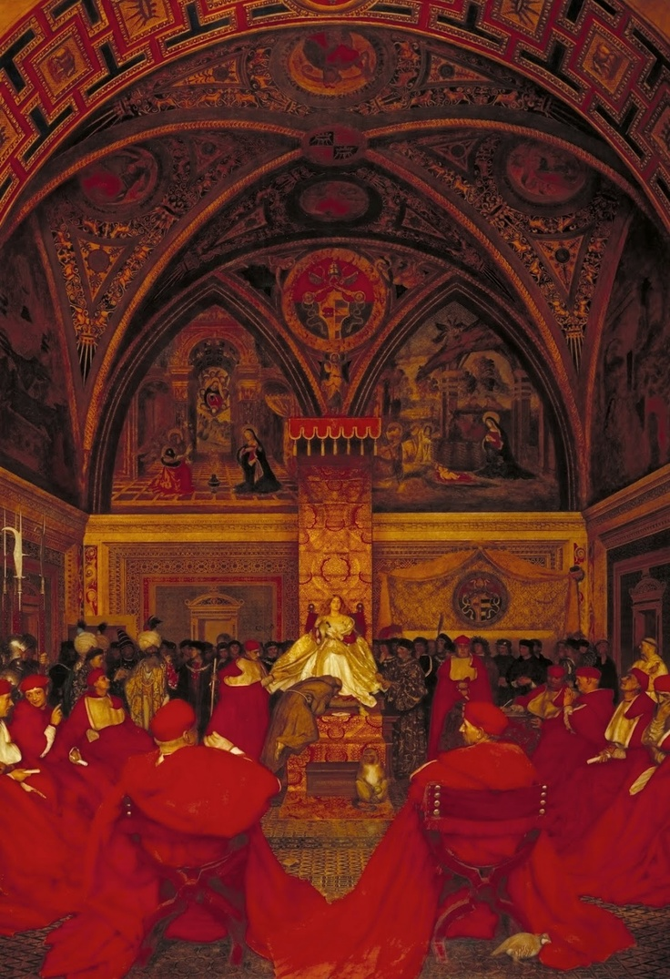 Lucretia Borgia Reigns in the Vatican in the Absence of Pope Alexander VI by Frank Cadogan Cowper