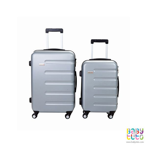 Maletas rígidas gris. 2 unidades, $139.990 (precio referencial). Marca Swiss Bagss: http://bbt.to/1IJ9oQI