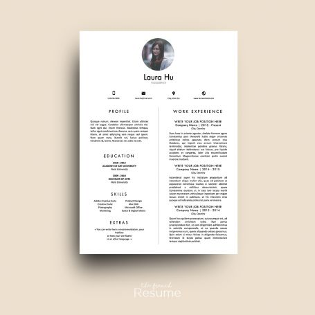 resume template with photo pages cv cover letter references for ms word - Cover Letter And Resume Format