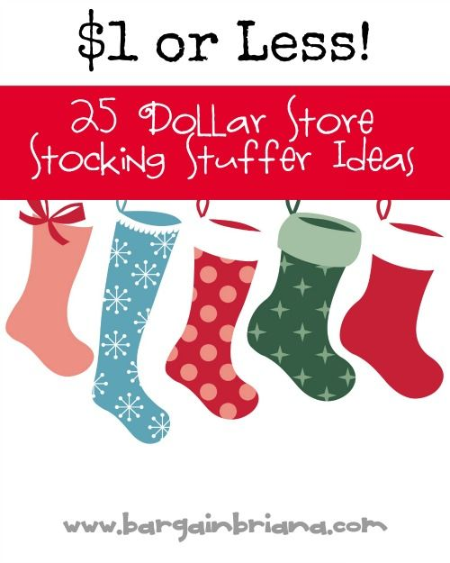 Tweet If you are looking for some inexpensive stocking stuffer ideas, your local Dollar Store (any of them!) are good places to find them. You can pick up little items for $1 or less to fill your stockings. 25 Stocking …