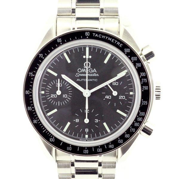 【中古】OMEGA(オメガ) 3539.50 スピードマスター クロノメーター オートマチック SS メンズ ブラック文字盤時計/新品同様・極美品・美品の中古ブランド時計を格安で提供いたします。/¥259,000
