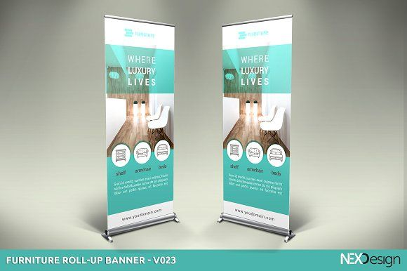 Furniture Roll-Up Banner - v023 by NEXDesign on @creativemarket