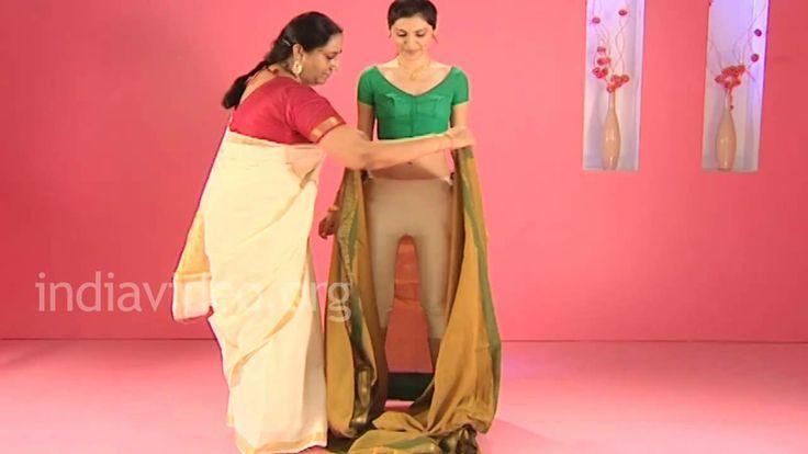 Saree draping in madurai style. very similar to dhoti style saree. tutorial for wearing dhoti saree like sonam kapoor.