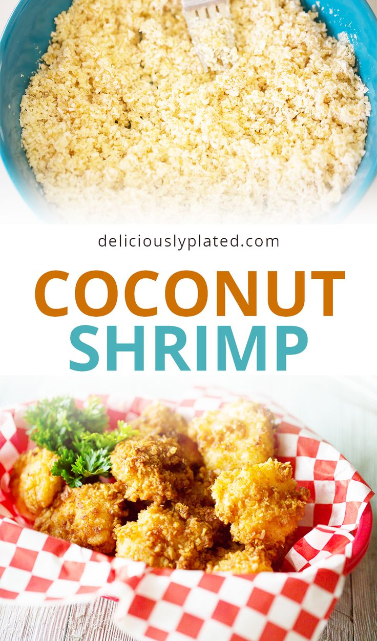 Crispy and Sweet, these are my favorite coconut shrimp!  And they are ready in under 30 minutes
