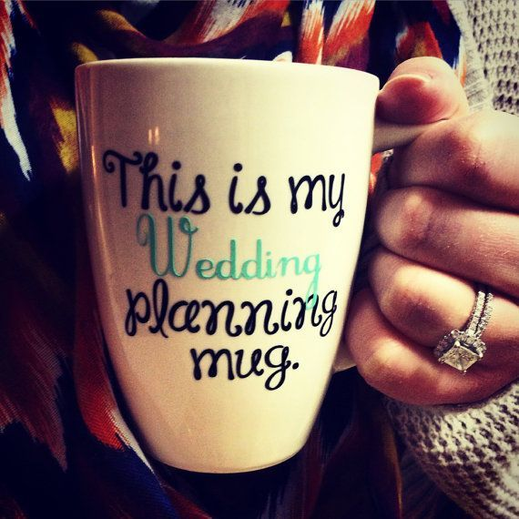 This wedding planning mug is sure to keep any bride-to-be happy and focused!
