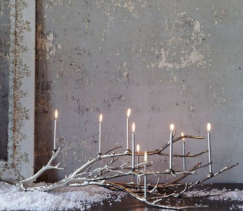 Happy Hanukkah ... prettiest- most unique menorah I ever did see... well a hanukkiah with nine branches - menorah is seven :-)