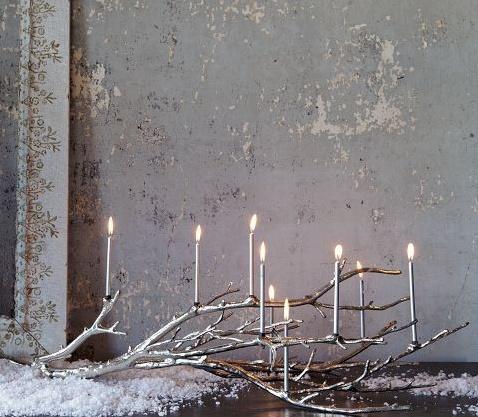 Happy Hanukkah ... prettiest- most unique menorah I ever did see... well a hanukkiah with nine branches - menorah is seven :-)
