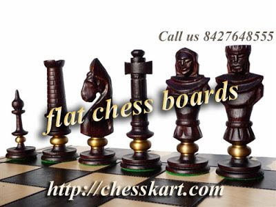 These chess sets include a flat chess board as well as the chess pieces, and are perfect for display chess sets as well as a playable chess set. #flatchessboards
