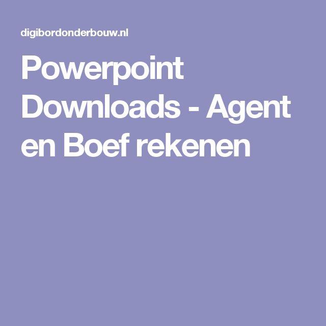Powerpoint Downloads - Agent en Boef rekenen