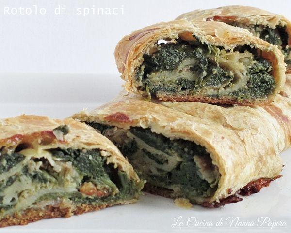 Rotolo spinaci e pancetta